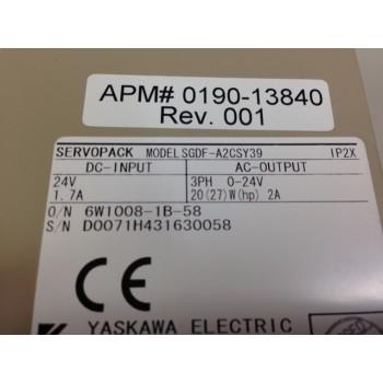 AMAT 0190-13840 Yaskawa SGDF-A2CSY39 Servopack