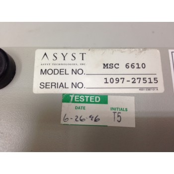 ASYST MSC 6610 Micro Station Communication Controller