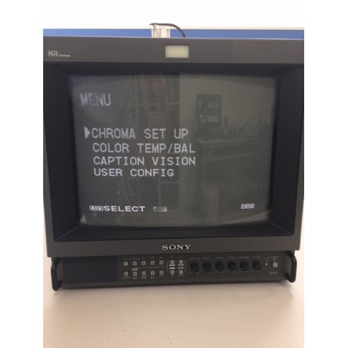 sony pvm 1354q trinitron color video monitor