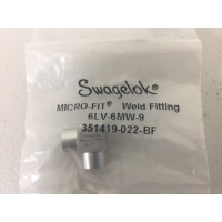 Swagelok 6LV-6MW-9 Microfit elbow weld fitting, 90...